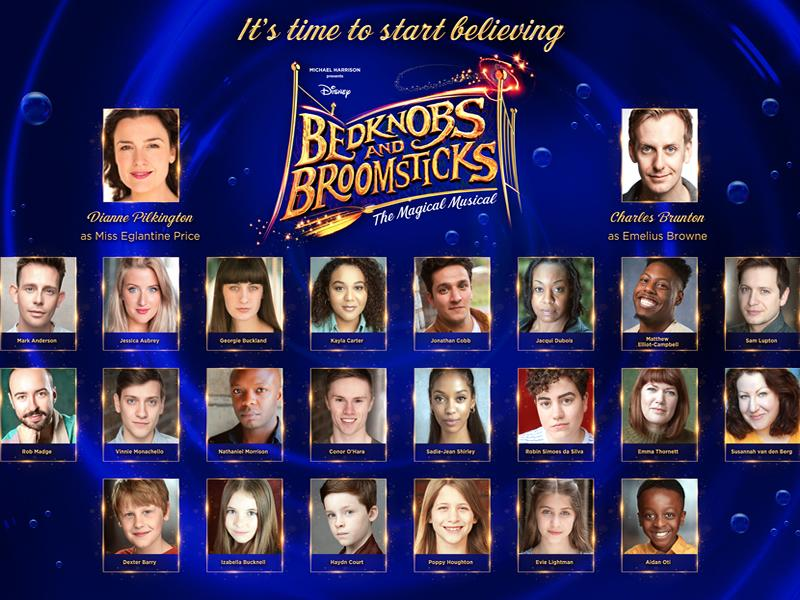 Cast announced for the world premiere stage production of the classic Disney movie, Bedknobs and Broomsticks