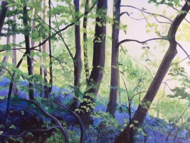 ''Bluebell Wood'' Paint Night via Zoom