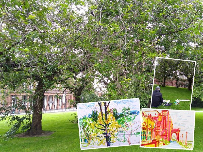 Relaxed Mindful Drawing: Natural Inspiration Around Kelvingrove Museum